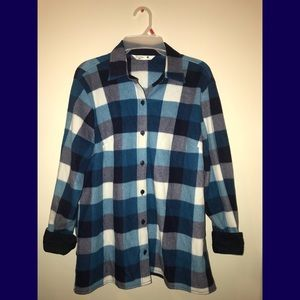 Riders by Lee Tops - Soft Flannel Plaid Blue Shirt